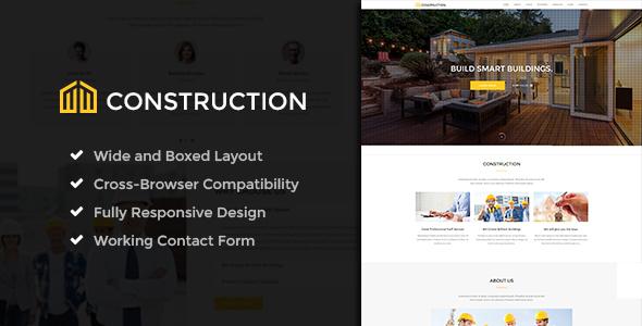 Wordpress Immobilien Template Construction - Business & Building Company WordPress Theme