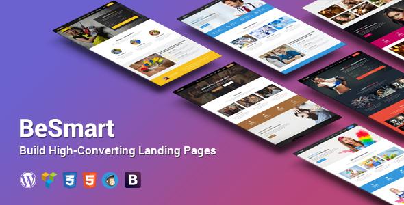 Wordpress Corporate Template BeSmart High-Converting Landing Page WordPress Theme