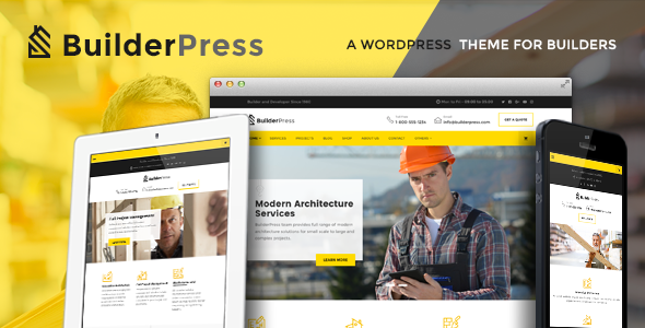 Wordpress Immobilien Template BuilderPress - Construction and Architecture WordPress Theme
