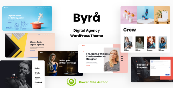 Wordpress Kreativ Template Byra - Personal Portfolio WordPress