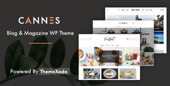 Wordpress Blog Template Cannes - Blog News and Magazine WordPress Theme