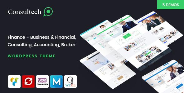 Wordpress Corporate Template Consultech - Finance & Consulting Business WordPress Theme