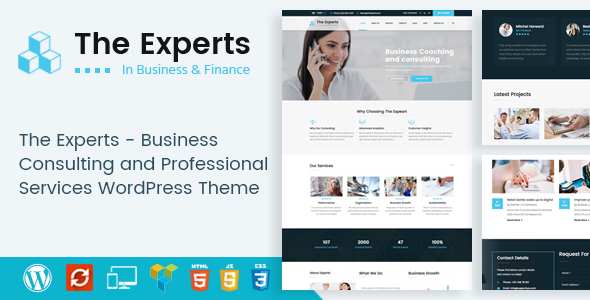 Wordpress Immobilien Template The Experts - Business Consulting and Professional Services WordPress Theme