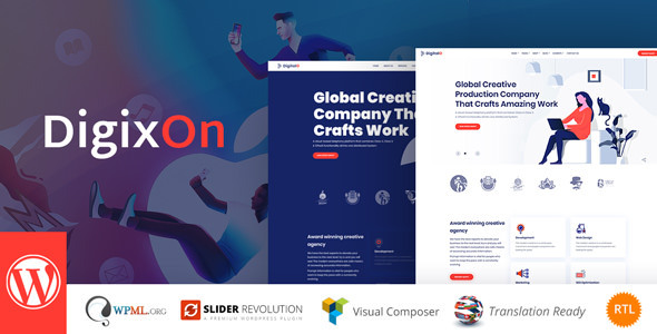 Wordpress Kreativ Template Digixon - Digital Marketing Strategy WP Theme