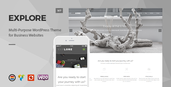 Wordpress Corporate Template Explore – Responsive Business WordPress Theme