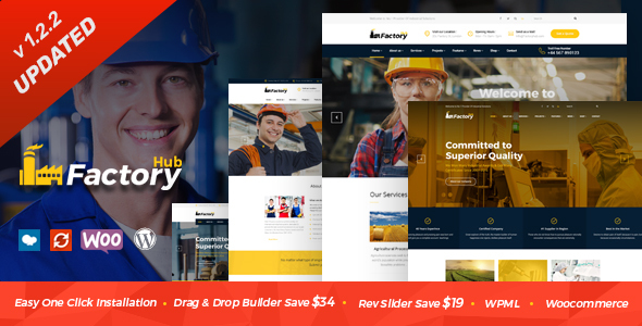 Wordpress Immobilien Template Factory HUB - Industry and Construction WordPress Theme