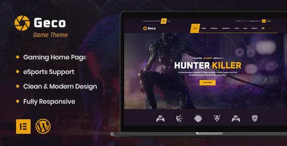 Wordpress Entertainment Template Geco - eSports and Gaming WordPress Theme + Buddypress