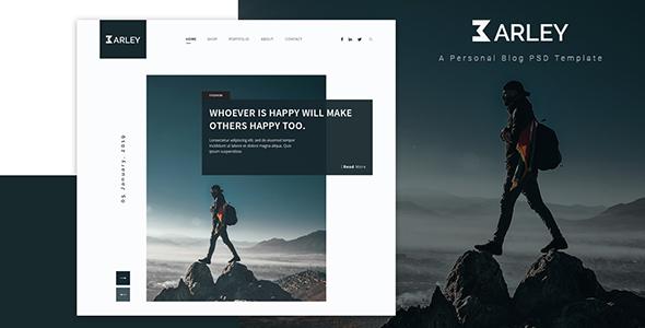 Wordpress Blog Template Barley - Creative Personal WordPress Blog Theme