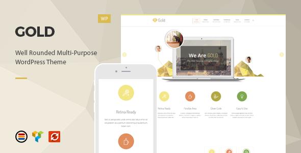 Wordpress Corporate Template Gold - Responsive Business WordPress Theme