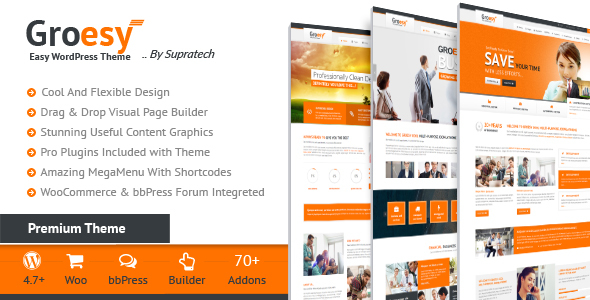 Wordpress Immobilien Template Groesy - Corporate Responsive Multi-Purpose WordPress Theme