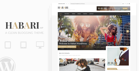 Wordpress Blog Template Habari - A Responsive WordPress Blog Theme