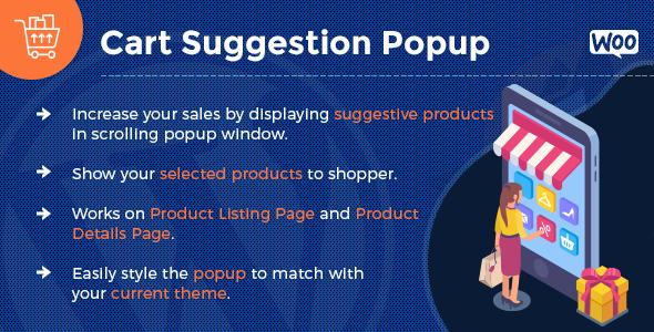 Wordpress E-Commerce Plugin Add To Cart Suggestion Popup - WooCommerce