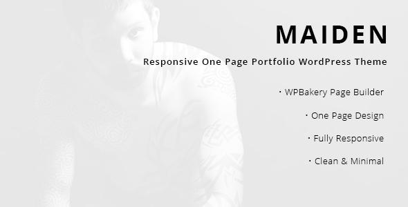Wordpress Kreativ Template Maiden - Responsive One Page Portfolio WordPress Theme