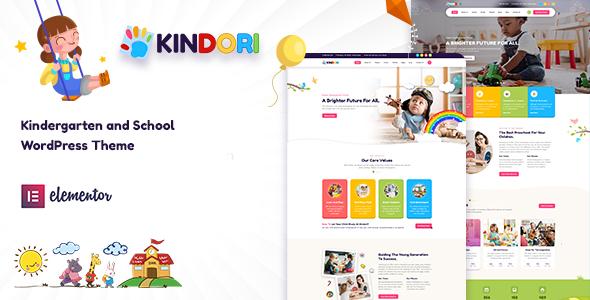 Wordpress BILDUNG Template Kindori - School Kindergarten WordPress Theme