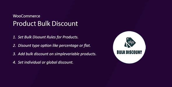 Wordpress E-Commerce Plugin WooCommerce Product Bulk Discount