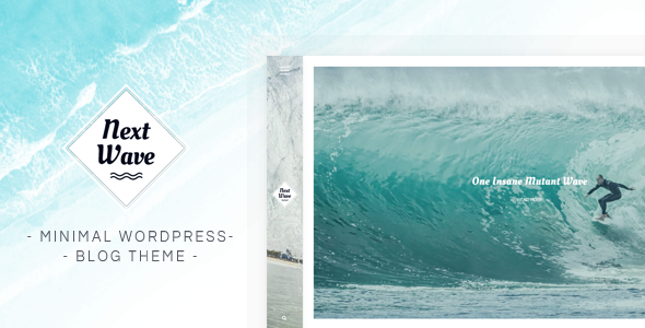 Wordpress Blog Template NextWave - Minimal WordPress Blog Theme