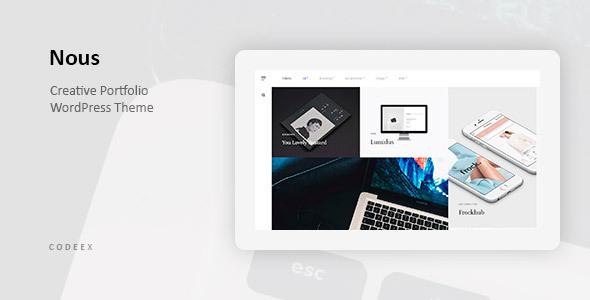 Wordpress Kreativ Template Nous - Creative Portfolio WordPress Theme
