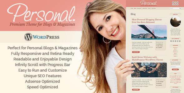 Wordpress Blog Template Personal WordPress Theme