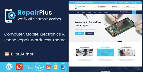 Wordpress Immobilien Template Repair Plus - Electronics and Phone WordPress Theme