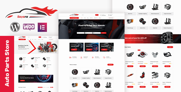 Wordpress Shop Template Sayara -  Auto Parts Store WooCommerce WordPress Theme