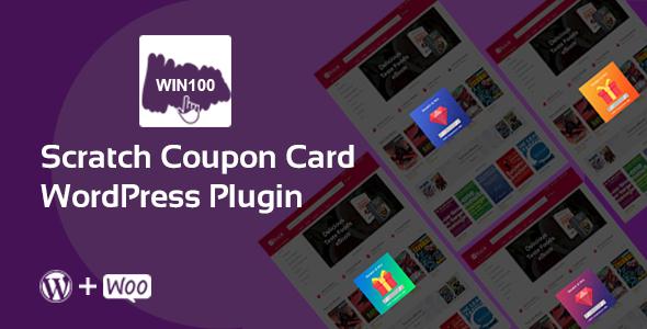 Wordpress E-Commerce Plugin Scratch Coupon Card WordPress plugin