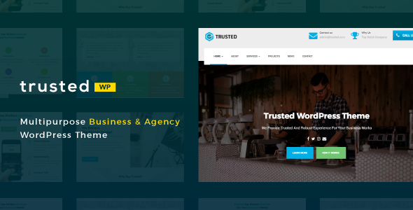 Wordpress Immobilien Template Trusted - Multipurpose Business & Agency