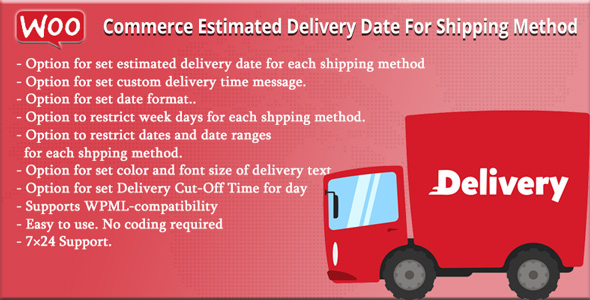Wordpress E-Commerce Plugin WooCommerce Estimated Delivery Date For Shipping Method