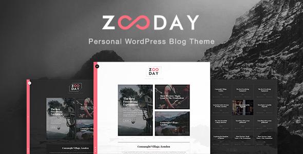 Wordpress Blog Template Zunday - Personal WordPress Blog Theme