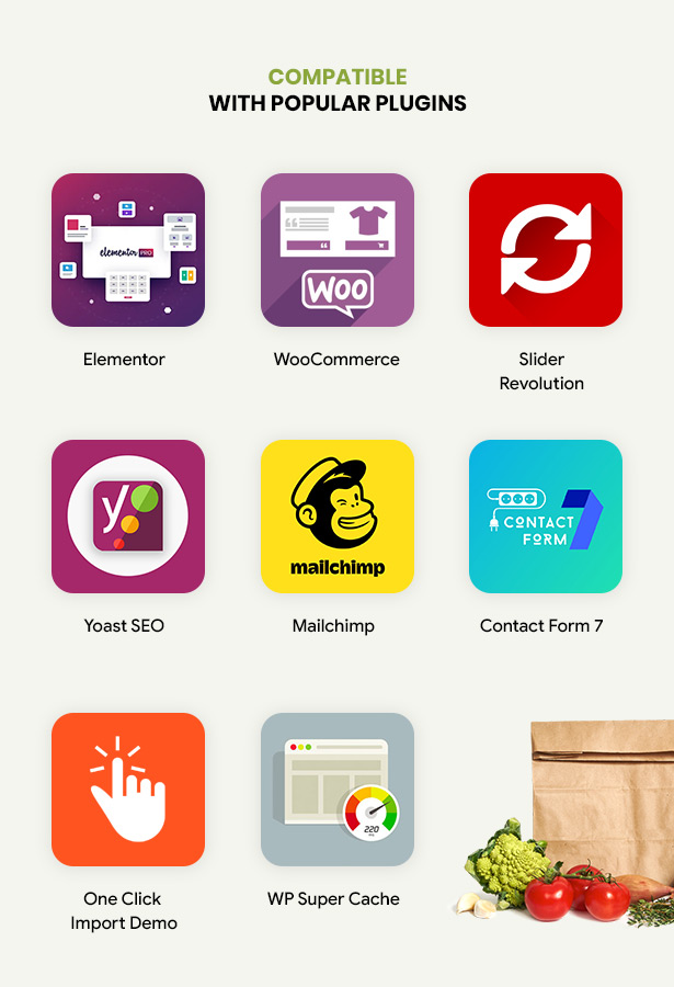 Efway Food Store WP Thema mit Plugins