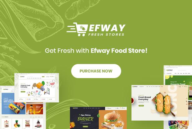 Efway Food Store WordPress Theme - Kauf
