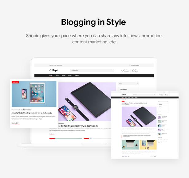 Shopic - Mehrzweck-WordPress-Theme für WooCommerce