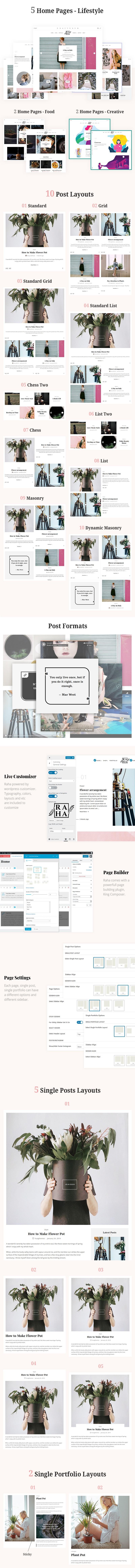 Raha - Kreatives WordPress-Theme - 1