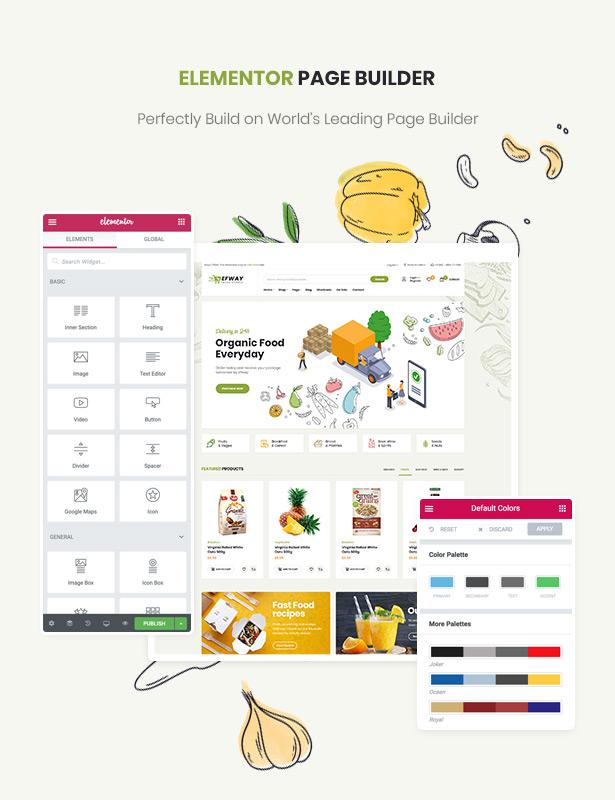 Efway Food Store WordPress Theme Elementor Builder