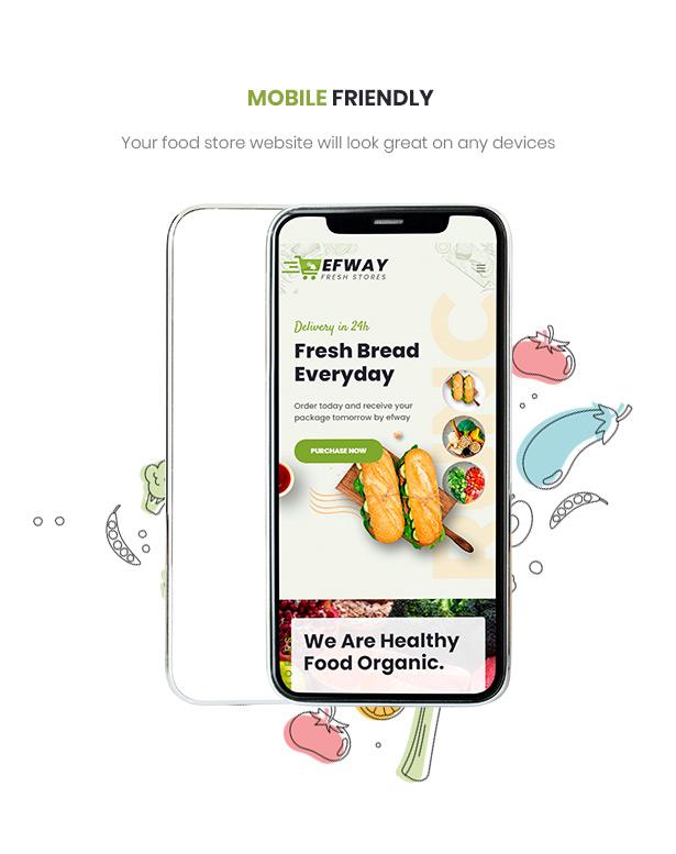 Efway Food WooCommerce WordPress Theme Handyfreundlich