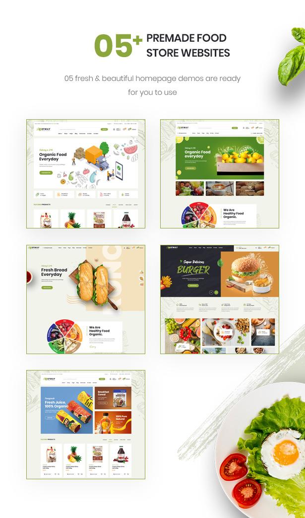 Efway Food Store WordPress Theme Atemberaubende Homepages
