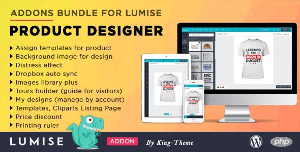 Wordpress E-Commerce Plugin Addons Bundle for Lumise Product Designer