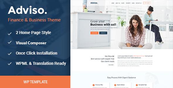 Wordpress Corporate Template Adviso - Finance, Consulting, Business WordPress Theme
