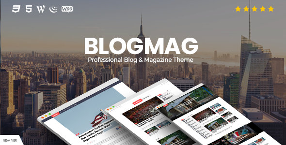 Wordpress Blog Template BlogMag - Responsive Blog and Magazine WordPress Theme