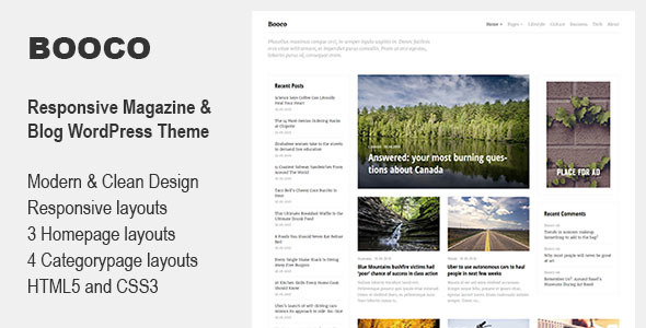 Wordpress Blog Template Booco - Responsive Magazine & Blog WordPress Theme