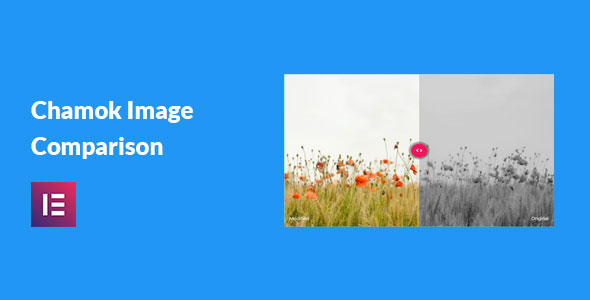 Wordpress Add-On Plugin Chamok Image Comparison - Image Before After Addon For Elementor