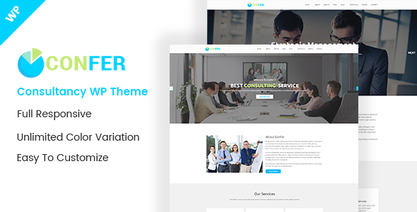 Wordpress Immobilien Template Confer - Consultancy, Finance & Business WordPress theme