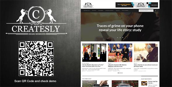 Wordpress Blog Template Createsly - News Magazine/Blogging Theme