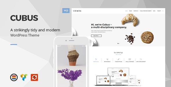 Wordpress Corporate Template Cubus - Responsive Business WordPress Theme