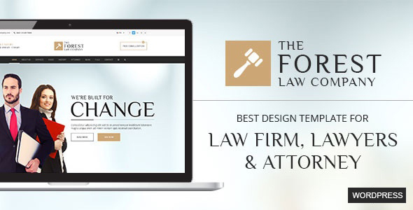 Wordpress Immobilien Template The Forest Law WordPress Theme