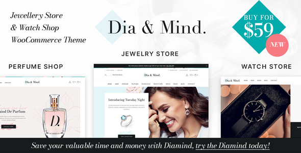Wordpress Shop Template Diamind - Jewelry & Watch Store