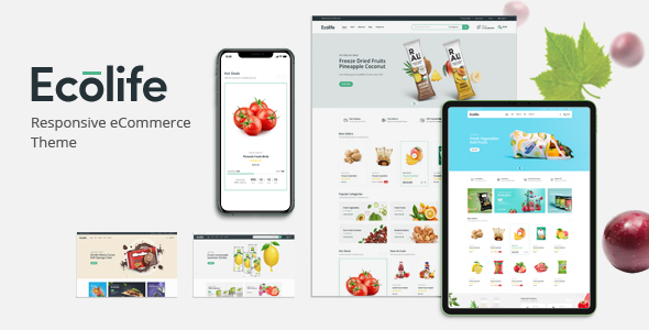 Wordpress Shop Template Ecolife - Organic WooCommerce WordPress Theme