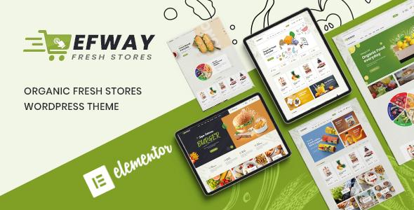 Wordpress Shop Template Efway - Food Store WooCommerce WordPress Theme