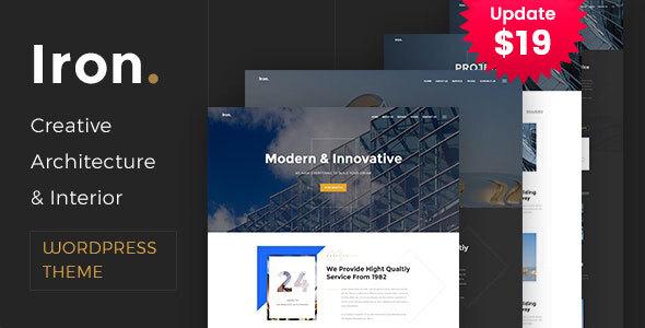 Wordpress Immobilien Template Iron - Architecture, Interior and Design WordPress Theme
