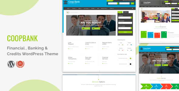 Wordpress Immobilien Template Financial , Banking & Credits WordPress Theme  | CoopBank