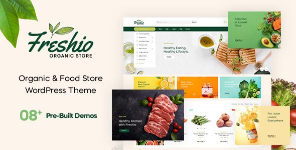 Wordpress Shop Template Freshio - Organic & Food Store WordPress Theme